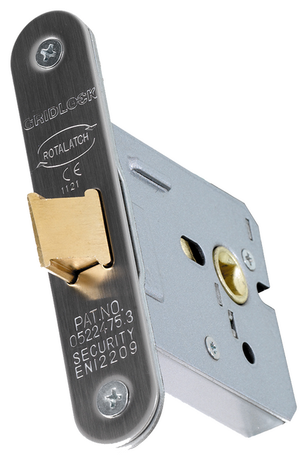 Gridlock Upright Mortice Latches Radius Corners
