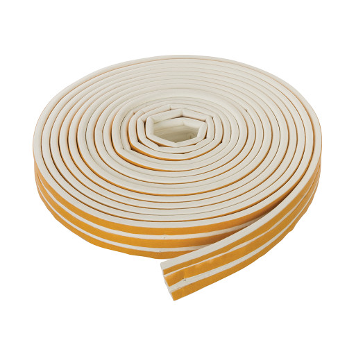 P Type Weather Strip Self Adhesive White 15m