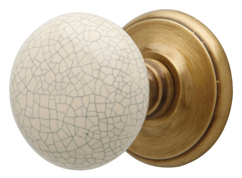 Crackle Mortice Knobs Polished Bronze Rose