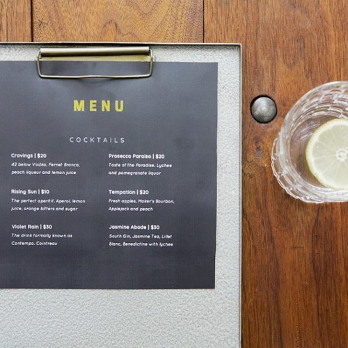 A4 Metal Green Clipboard Menu