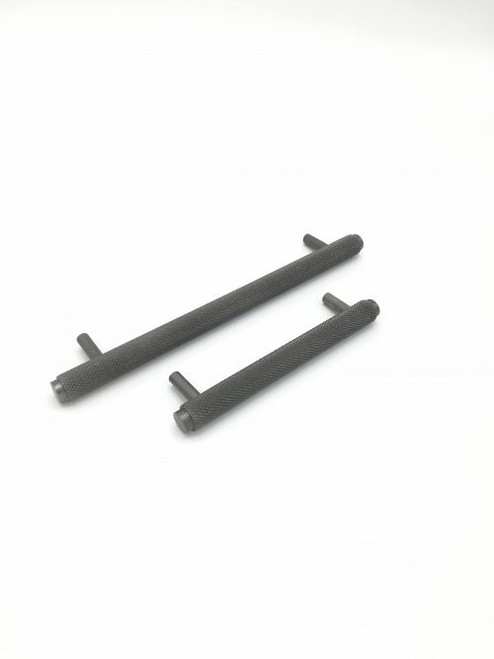 Knurled Cabinet Handle Black Nickel small and large
