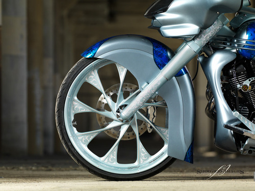 Phantom Builds editiona Raw 26 inch bolt-on front wheel complete conversion Star Roadliner/Stratoliner