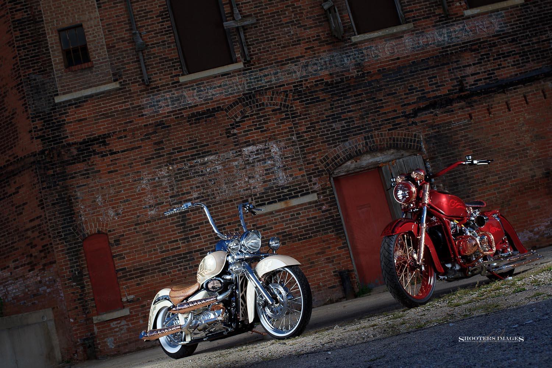 Suzuki C50 and Honda GL1000