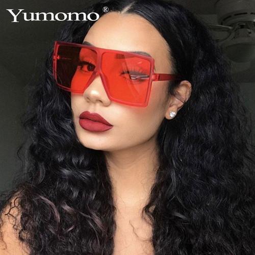 Fashion Red Oversized Square Sunglasses