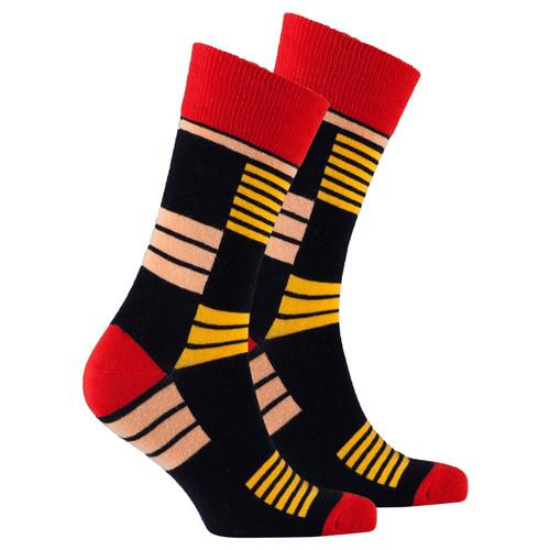 Men's Orange Stripe Socks