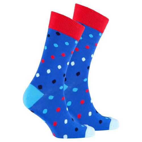 Men's Blue Paradise Dot Socks