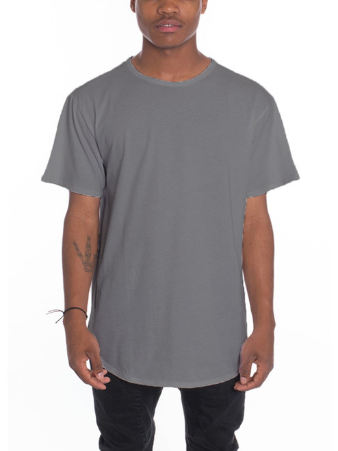 CLASSIC SCALLOP TEE- CHARCOAL