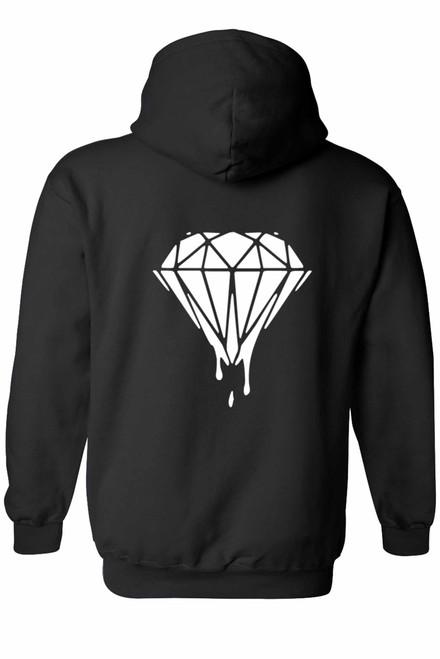 "Men's Zip-Up Hoodie Live The Diamond Life; ""Diamond"" Print"