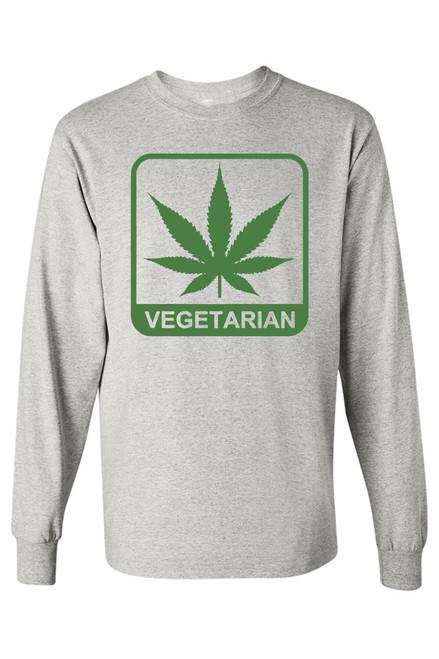 """Men's """"Vegetarian"""" Long Sleeve Tee"""