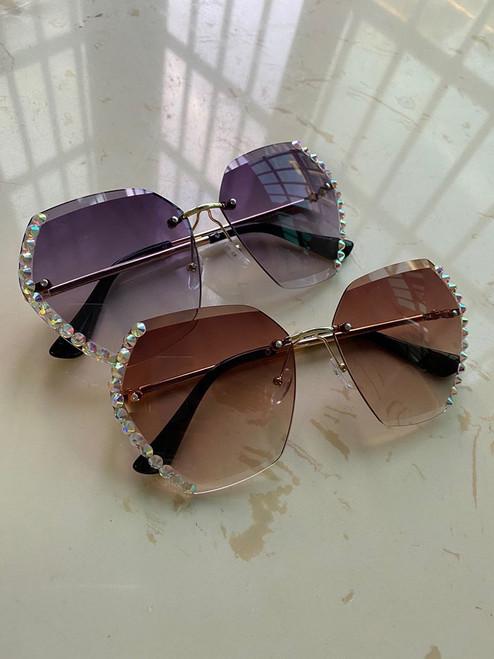 Diamond PinkSquare Sunglasses