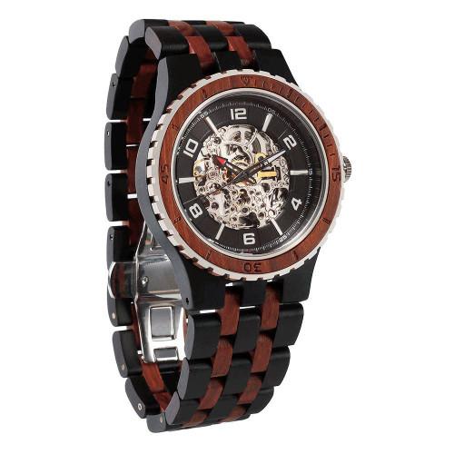 Premium Self-Winding Ebony Rosewood Watch