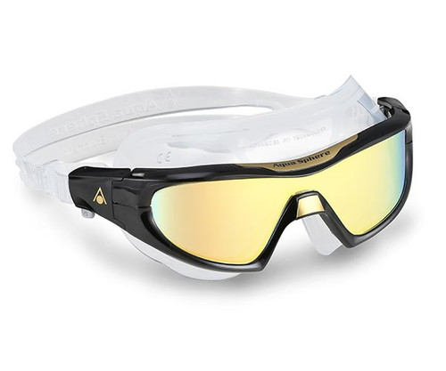 Aqua Sphere Vista Pro Swim Mask Gold Titanium Mirror Lens