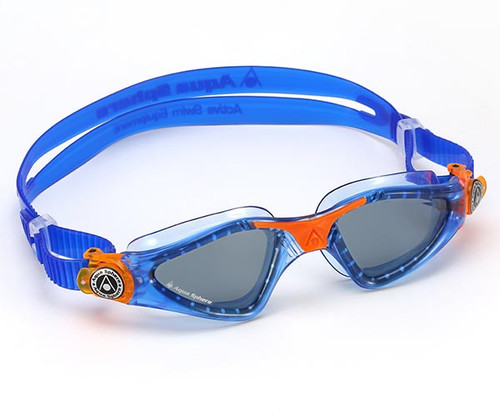 Aqua Sphere Kayenne Jr Children's Swimming Goggles - Tinted Lens - Blue Orange