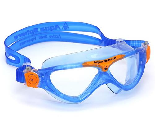Vista Jr Swim Mask - Blue - Aqua Sphere