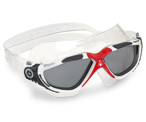 Dark Lens Vista Swimming Goggles - Red Black - Aqua Sphere