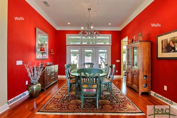 "Interior One Room Walls: ""Extreme Color Change"" 2 Coats Paint with Super Premium Benjamin Moore Aura, Includes 1 Coat Baseboards . Select to see all Options and Pricing"