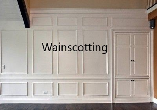 Interior Wainscotting: up to 10 feet in height.  Select to view all options and pricing
