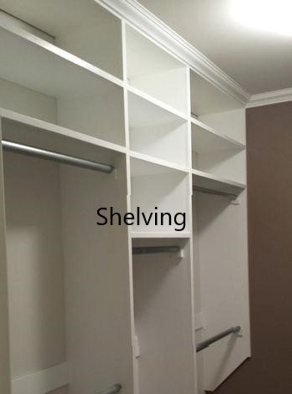 Interior Shelving: up to 18 inches wide. Select to see all options and pricing.