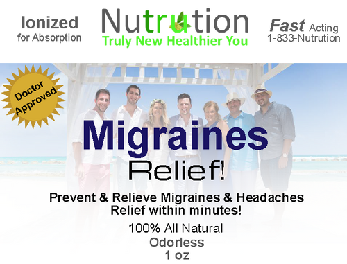 Headache & Migraine Relief! Spray