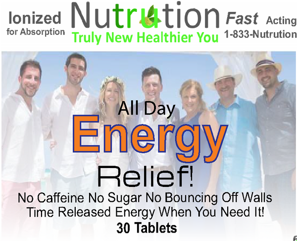 All Day Energy Relief! Tablets