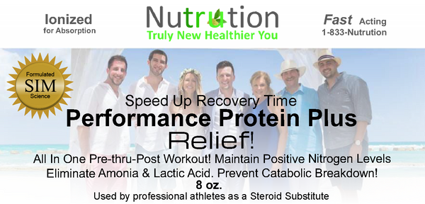 Performance Protein Plus Professional Strength Relief!
