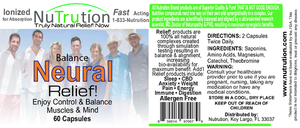 Neural Balance Relief! 60 Capsules