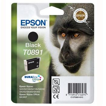 Genuine Epson T0891 Black Inkjet Cartridge C13T08914011 (Monkey)