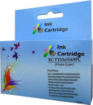 Compatible Canon BCI-6 Photo Cyan Inkjet Cartridge