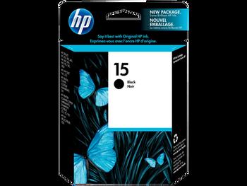 Genuine HP 15 Black Inkjet Cartridge C6615DE