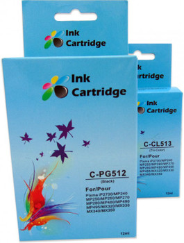 Compatible Canon PG-512/CL-513 Cartridge Combo Pack