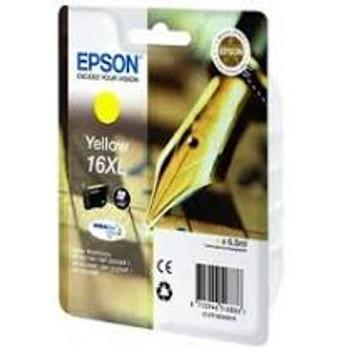 Genuine Epson 16XL (T1634) Yellow High Yield Inkjet Cartridge C13T16344010 (Fountain Pen)