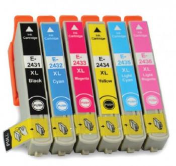 Compatible Epson 24XL (T2438) Inkjet Cartridge Value Pack