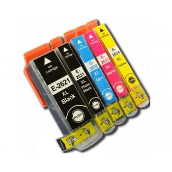Compatible Epson 26XL (T2636) Inkjet Cartridge Value Pack (5 Pack)