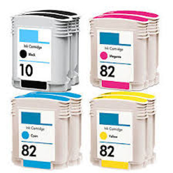 Compatible HP 10/82 Inkjet Cartridge Value Pack