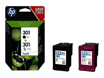 Genuine HP 301 Black/Colour Inkjet Multipack N9J72AE