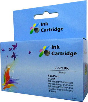 Compatible Canon CLI-521BK Black Inkjet Cartridge