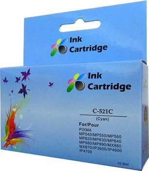 Compatible Canon CLI-521C Cyan Inkjet Cartridge