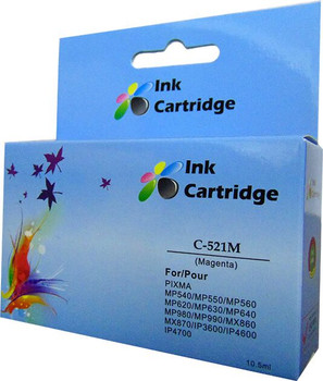 Compatible Canon CLI-521M Magenta Inkjet Cartridge