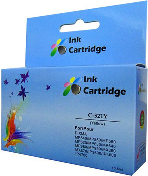 Compatible Canon CLI-521Y Yellow Inkjet Cartridge