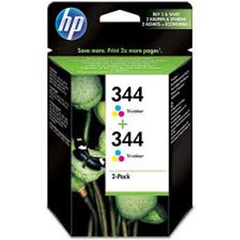 Genuine HP 344 Colour Inkjet Cartridge Twin Pack C9505EE