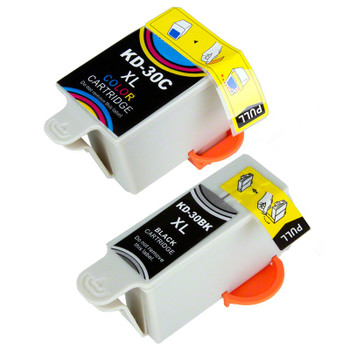 Compatible Kodak 30XLB/30XLC Ink Cartridge Combo Pack