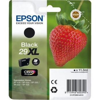 Genuine Epson 29XL (T2991) High Yield Black Inkjet Cartridge C13T29914010 (Strawberry)