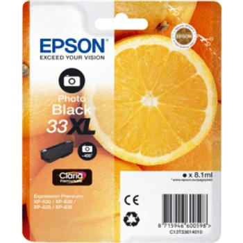 Genuine Epson 33XL High Yield Photo Black Inkjet Cartridge C13T33614010