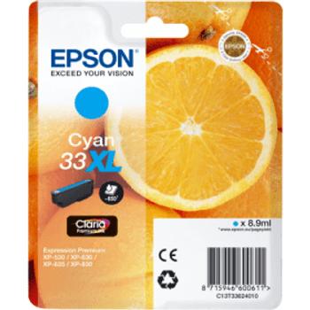 Genuine Epson 33XL High Yield Cyan Inkjet Cartridge C13T33624010