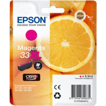 Genuine Epson 33XL High Yield Magenta Inkjet Cartridge C13T33634010