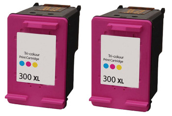 Compatible HP 300XL Colour Inkjet Cartridge Twin Pack D8J44AE