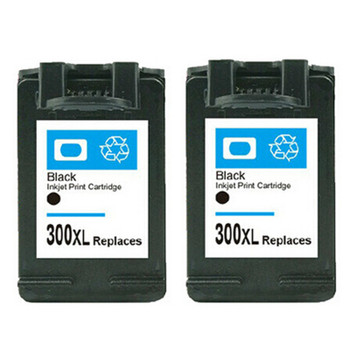 Compatible HP 300XL Black Inkjet Cartridge Twin Pack D8J43AE