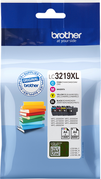 Genuine Brother LC3219XL Value Pack CMYK
