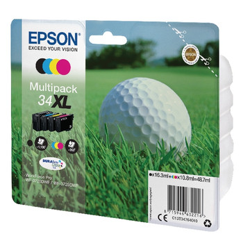 Genuine Epson 34XL Ink Cartridge Multipack - (C13T34764010)