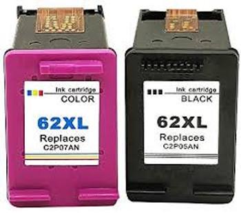 Compatible HP 62XL Black/Colour Ink Cartridges